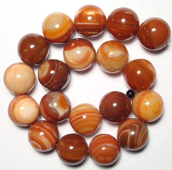 natural eye agate beads