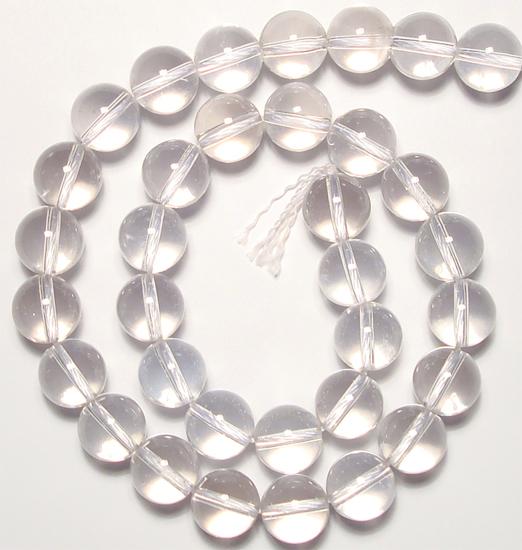 Clear Quartz Rock Crystal Beads Bracelet Quartz Crystal Beads