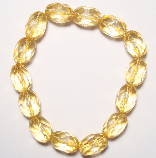 faceted oval beads