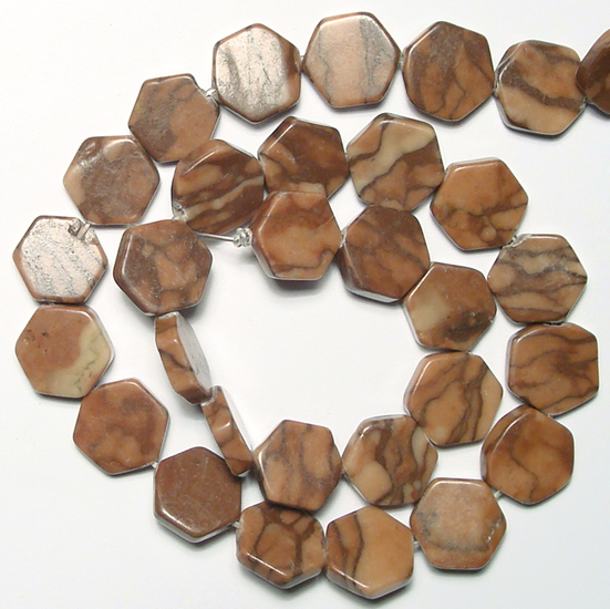 coffee jasper bead