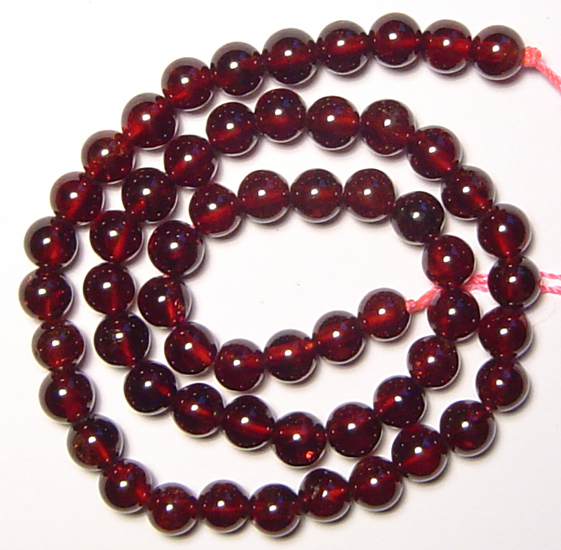 Genuine 6mm Round Red Garnet Beads 15 5 Rn0552
